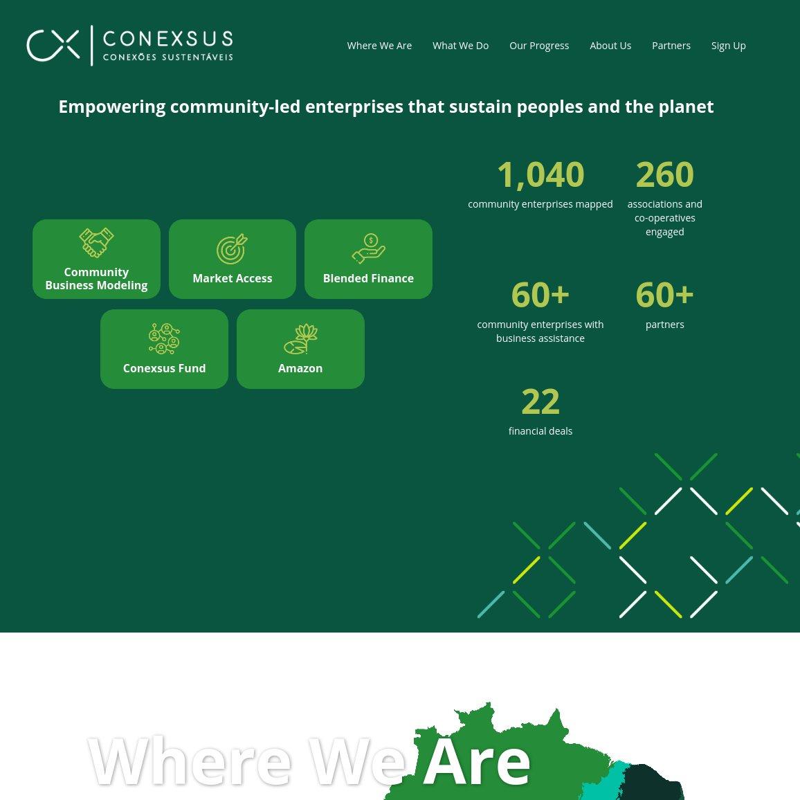 imagem da capa do site da Conexsus